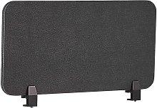Desk Screen 80 x 40 cm Dark Grey WALLY