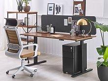 Desk Screen Dark Grey PET Board Fabric Cover 160 x