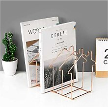 Desk Shelves Geometric Desktop Bookshelf Magazine