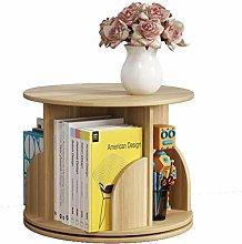 Desk Shelves Rotating Art Desktop Bookshelf Wood