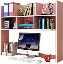 Desk Shelves Wood Desktop Bookshelf Computer
