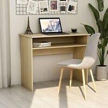 Desk Sonoma Oak 90x50x74 cm Chipboard