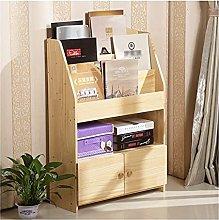 Desk storage Bookshelf 5 Tier Bookcase With Door
