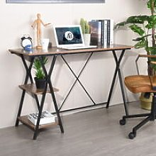 Desk study table for computer work shelf with 2