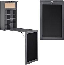 Desk Symple Stuff Colour: Grey