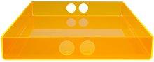 Desk Tray Symple Stuff Colour: Orange, Size: 21 cm