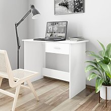 Desk White 100x50x76 cm Chipboard - Hommoo