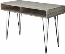 Desk with 2 Compartments Grey VDTD07443 - Topdeal