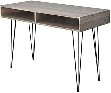 Desk with 2 Compartments Grey