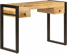 Desk with 2 Drawers 110x50x77 cm Solid Mango Wood