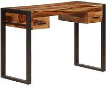 Desk with 2 Drawers 110x50x77 cm Solid Sheesham