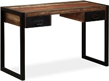 Desk with 2 Drawers Solid Reclaimed Wood 120x50x76