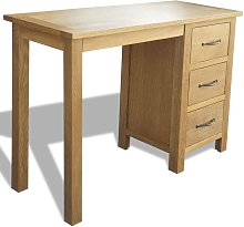 Desk with 3 Drawers 106x40x75 cm Solid Oak Wood