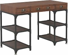 Desk with 3 Drawers 110x50x78 cm Solid Fir Wood -