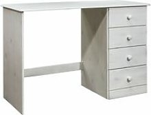 Desk with 4 Drawers 110x50x74 cm Solid Pine Wood -