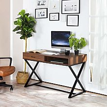 Desk with Drawer for Storage Vintage Home Office