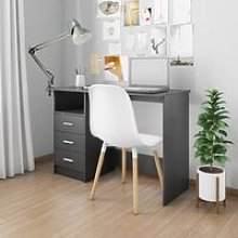 Desk with Drawers Black 110x50x76 cm Chipboard