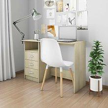 Desk with Drawers Sonoma Oak 100x50x76 cm