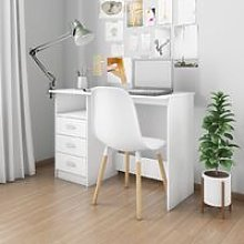 Desk with Drawers White 110x50x76 cm Chipboard