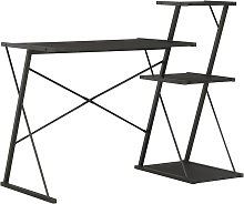 Desk with Shelf Black 116x50x93 cm QAH07579 -