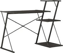 Desk with Shelf Black 116x50x93 cm