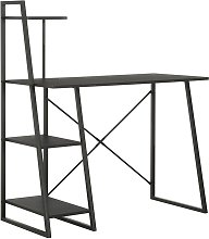 Desk with Shelving Unit Black 102x50x117 cm -