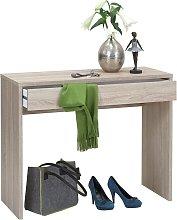 Desk with Wide Drawer 100x40x80 cm Oak - Beige -