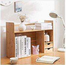 Desktop Bookshelf Bamboo Desk Organizer Desktop