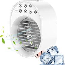 Desktop cold air conditioner fan USB rechargeable