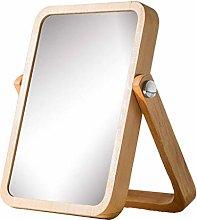 Desktop Mirror European Mirror Simple Solid Wooden