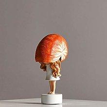 Desktop statues Cute Conch Girl Statue, Creative