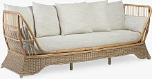 Desser Rattan 3-Seater Daybed Sofa, Natural