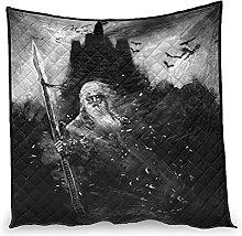 Dessionop Dark Viking Odin Warrior Spear Crows