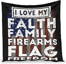 Dessionop Faith Family Firearms Flag Freedom Print