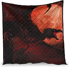 Dessionop Fantasy Dragon Blood Moon Night Print