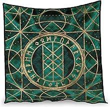 Dessionop Green Marble Viking Runes Fathurk Print