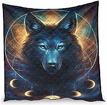 Dessionop Indian Wolf Moon Mist Dream Catcher