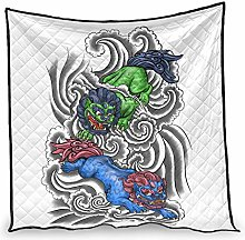 Dessionop Japanese Kirin Clouds Painting Print Day