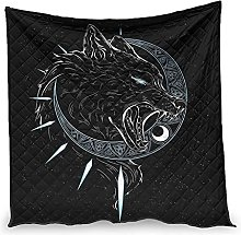 Dessionop Viking Wolf Fenrir Sun Moon Print Day