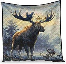 Dessionop Vintage Elk Lake Forest Sunlight