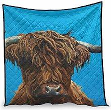 Dessionop Vintage Highland Cow Yak Print Day Air