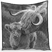 Dessionop Vintage Highland Yak Calf Cow Print Air