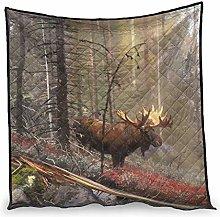 Dessionop Watercolour Elk Forest Painting Print