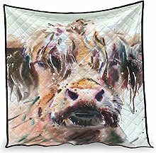 Dessionop Watercolour Highland Cow Painting Print