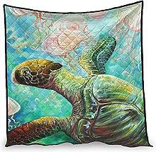 Dessionop Watercolour Sea Turtle Jellyfish