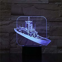 Destroy Ship 3D Desk Night Light Table Lamp