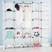 Deuba - Interlocking DIY Plastic Wardrobe Cabinet