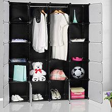 Deuba - Plastic Wardrobe Storage Shelf Rack