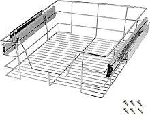 Deuba Pull Out Storage Drawer Wire Basket
