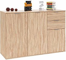 Deuba Sideboard Cabinet Cupboard Chest Of Drawers